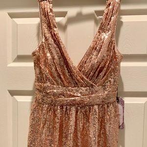 Formal Gold Sequins Dress